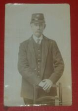 W.W.1. /  W.W. 2 MILITARY POSTCARD - REAL PICTURE SOLDIER.