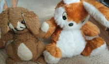2 x Childrens Stuffed Brown Bunny Rabbit Soft Toys
