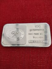More details for rare johnson matthey bankers limited 100g london silver 999 bar *one of 100*