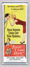LOVER COME BACK movie poster LARGE FRIDGE MAGNET - DORIS DAY + ROCK HUDSON !