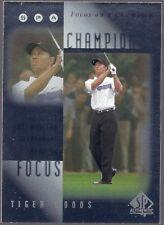 2001 SP Authentic #FC4 TIGER WOODS