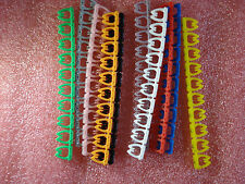 100 x Cable Markers Colourful C-Type Marker Number Tag Label  5-8mm cat6 D14