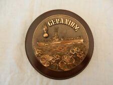 médaille de table militaire tape de bouche de bateau - Geranium