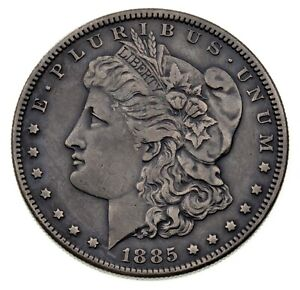 1885-S $1 Silver Morgan Dollar in Extra Fine XF Condition, Nice Detail for Grade