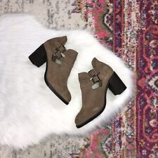 Jeffrey Campbell Women's Size 9.5 Roycroft Taupe Distressed Suede NIB $180