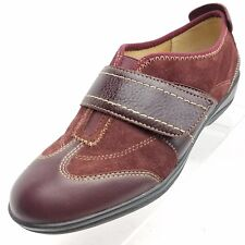 Softspots Womens Size 6.5 M Brown Suede Leather Monk Strap Casual Wedge Shoes