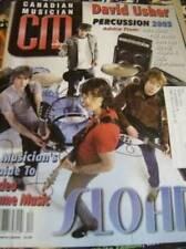 CM Canadian Musician Magazine Nov/Dec 2003 Sloan, David Usher, Percussion Featur