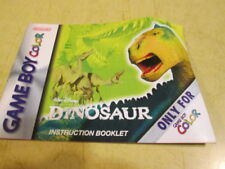 INSTRUCTION BOOKLET FOR DINOSAUR   FOR THE GAME BOY COLOR SYSTEM