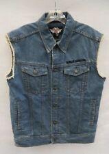 Men's Harley-Davidson Jean Denim Blue Vest Size M