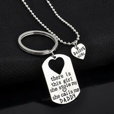 ... PendantTheme  Love   Hearts. Daughter Dad Keychain Necklace Father  Girls Silver Plated Gift Twin Daddy a01566132c36