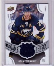 JASON POMINVILLE 18/19 Upper Deck UD Game-Used Jersey #GJ-JP Buffalo Sabres Card