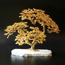 Goldener Glücksbaum Glücksbäumchen Bernsteinbaum Bernsteinbäumchen VIII 20 cm