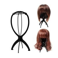 Folding Wig Stand Hair Hat Cap Holder Mannequin Stable Durable Portable Tool NE8