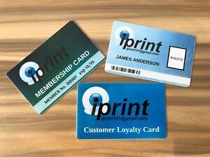 CUSTOM Printed Plastic ID Cards, Staff Name Badges, Membership INCLUDING DESIGN