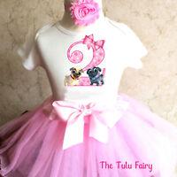 9ce451f14880 Puppy Dog Pals Light Pink 2nd Second Girl birthday Tutu Shirt Headband  Outfit