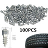 100pcs 12mm Car Truck SUV ATV Tyre Studs Wheel Snow Tire Spikes Anti-Slip Screws