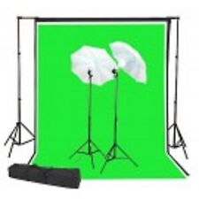 400 Watt continuous lighting kit with 7x10 backdrop stand and 6x9 B/W/G backdrop