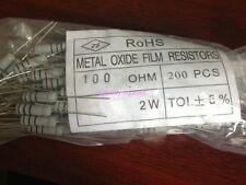 50pcs 2W 2watt 2 watt 5% Carbon Film Resistor 100 ohm