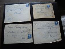 FRANCE - 4 enveloppes 1953 1954 1955 (cy26) french