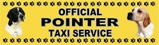 POINTER OFFICIAL TAXI SERVICE Dog Car Sticker  By Starprint