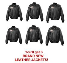WHOLESALE LOT: 6 PowerTrip leather jackets NEW!! $200 each = $1,200 retail!