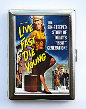Live Fast Die Young Case Wallet Business Card Holder pulp retro rockabilly rock