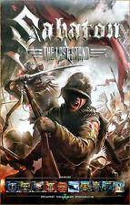 SABATON The Last Stand 2016 Ltd Ed RARE New Poster +FREE Metal Rock Poster!