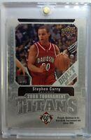 2009-10 Upper Deck Stephen Curry RC Rookie Draft Edition Tournament Titans #TTSC