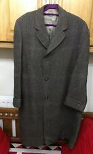 """Vintage William Major Nicholson Mens Brown Grey Tweed Wool Coat Jacket 48"""" Short"""