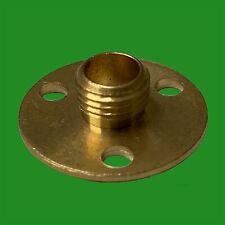 2x M10 10mm x 25mm Brass Base Backplate Allthread Hollow Thread Tube Lampholder