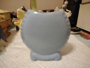 Vintage Blue Catalina Island Pottery Vase 604 Double Bottom Marked No Damage