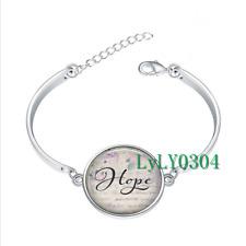 Hope  glass cabochon Tibet silver bangle bracelets wholesale