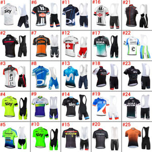 2020 Mens Cycling Clothing Bicycle Short Sleeve Cycling Jerseys Bib Shorts sets