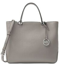 NWT MICHAEL Michael Kors Annabelle Large Top-Zip Tote Pearl Grey MSRP $368