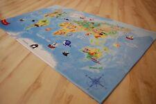 Kinder Spielteppich Weltkarte 140x200 cm LK-413 Welt Unsere Erde NEU