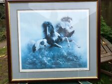 PRINT BY AMERICAN ARTIST CHUCK DEHAAN 'THE UNTAMED'1988 SIGNED AND FRAMED