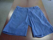 Lululemon Men's Athletica Blue Flat Front Shorts Size 32