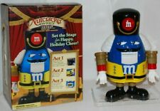 Mars Collectible Limited Ed Blue Nutcracker Sweet M&M Chocolate Candy Dispenser