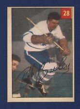 1954-55 Parkhurst BOB BAILEY #28 NRMT/NRMT+ TORONTO MAPLE LEAFS *Stat. Back* !