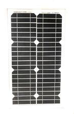 Pannello Ad Energia Solare Fotovoltaico 30W 12V Con Celle In Silicio E Pinze