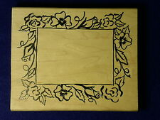 Denami Floral Xl Frame Roses Pansy Leaf Flowers Anniversary Wedding Rubber Stamp
