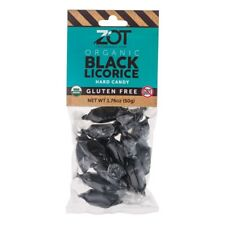 ZOT ORGANIC BLACK LICORICE HARD CANDY -10 PACKAGES (1.76 oz pack)