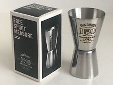 JACK DANIELS 25 / 50 ML STAINLESS STEEL 150TH ANNIVERSARY SHOT MEASURE