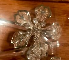 12 Vintage Hair Clip Silver Metal Hairpin Flower Style Barrette Pin