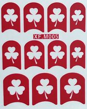 Nail Art Decal Stencil Stickers Shamrock Clover St. Patricks Day XF.M005