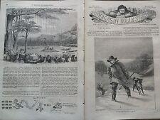 """LE MAGASIN D'ILLUSTRATIONS 1859 N 6  """" LE ROI DES ZEPHYRS """"  DE MITRY-EN- BRIE"""