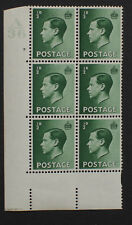 Gb 1936 Keviii 1/2d Cylinder Block A36 7 dot Mnh with Variety