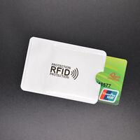 RFID Secure Sleeve Credit Card Case Holder Blocking Protector Anti Theft Oyster