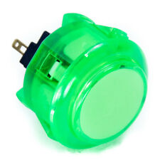 Sanwa Obsc-30mm Snap-in Button-Clear Green-Oem