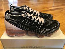 Nike Women's Air Vapormax Flyknit 3 Black White Barely Rose CU4748 001 Size 7.5